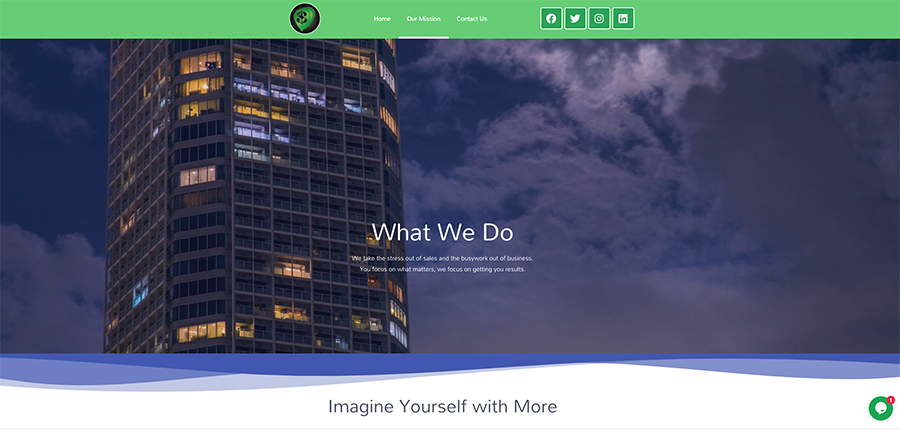 Web design for a consulting business.